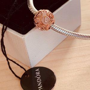 Pandora rose pink charm